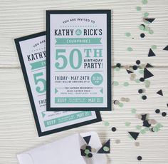 surprise 50th birthday party invitation // aucala.com