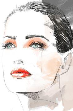 Fashion Illustration Faces | ... BLOOD STYLE - HAUTE COUTURE: NEW BLOOD STYLE (my fashion illustration