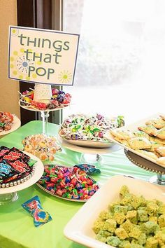 "Fun baby shower idea.  The invite to say ""Katie is ready to pop..."" and everything is about popping, popcorn, pops, cake pops, etc. katumsbfly"