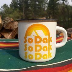 Camping Mug South Dakota  Enamel Camp Mug So Dak by ohgeezdesign