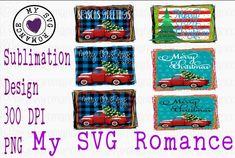 Vintage Truck & Christmas Themed Sublimation Mini Bundle (1023533) | Sublimation | Design Bundles