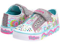 SKECHERS KIDS Twinkle Toes - Skipz (Infant/Toddler) Silver Metallic/Turquoise/Multi - Zappos.com Free Shipping BOTH Ways