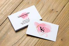 Pink gold watercolor Premade Business Card make up artist businesscard Entrepreneur Branding Minimalist Branding, Printable Business Card Printable Business Cards, Gold Watercolor, Text Color, Business Card Design, Card Templates, Pink And Gold, Entrepreneur, Card Making, Minimalist