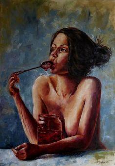 "Saatchi Art Artist Tatiana Siedlova; Painting, """"Dolce vita""."" #art"