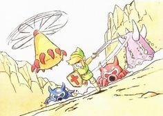The Legend of Zelda concept art, from Hyrule Historia book
