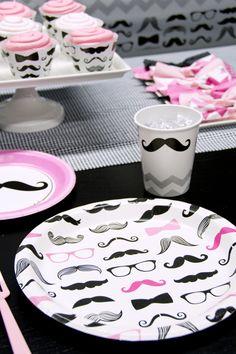 So cute! #pink #mustache #party #BirthdayExpress