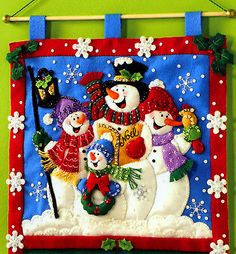 Vtg 2008 Bucilla Snowmen Christmas Greeting Card Holder Felt Kit 86115 for sale online Christmas Sewing, Christmas Snowman, Vintage Christmas, Christmas Stockings, Christmas Sweaters, Christmas Crafts, Christmas Greeting Cards, Christmas Greetings, Greeting Card Holder
