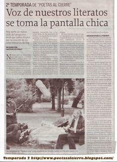 Poetas Al Cierre; 2da temporada. Fondo Nacional para Fomento de la Literatura 2009. CNCA Chile