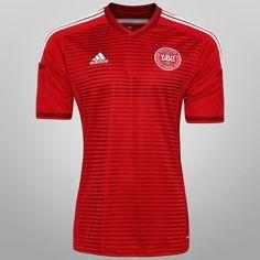 Netshoes -  Camisa Adidas Seleção Dinamarca Home 2014 s/nº