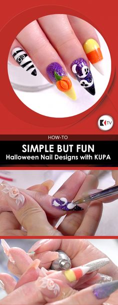 Simple But Fun Halloween Nail Design with KUPA  Kupa Master Educator Ann Chang shows how to create simple and fun nail designs along with valuable time-saving pro tips, perfect for Halloween.  https://m.youtube.com/watch?v=nv2Hy9tIbgU