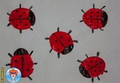 Lieveheersbeestjes stempelen met een aardappel 4
