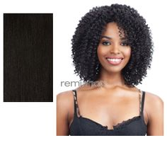 Equal (SNG) Hand Tied Crochet Braid Wig Single Rod Twist Out  - Color 1B - Synthetic Regular Wig