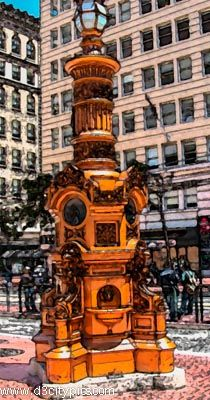 Lotta's Fountain - Gathering place during the 1906 Earthquake in San Francisco