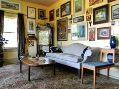 Gallery Wall With Classic Prints Is A Great Choice For The Classy Victorian Style Interior