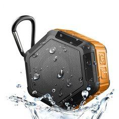 Welllon Mini Outdoor Portable Bluetooth Speaker Waterproof Stereo Sound Box Wireless Biking Speakers Sport for iPhone Huawe Subwoofer Speaker, Cool Bluetooth Speakers, Waterproof Bluetooth Speaker, Audio Crossover, Loudspeaker Enclosure, Portable, Biking, Speaker Price, Pixel Xl