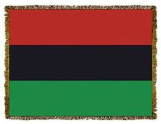 This tapestry throw features the Pan African Flag popularized originally when Marcus Garvey's UNIA started using it many moons ago. The Red, the Black and the Green.....the struggle is real. Learn, Live and Celebrate the Legacy.