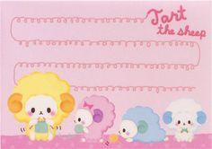 mini memo pad with colourful sheeps from Japan kawaii  3