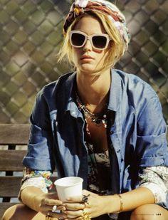 Kate Bock by Michael Evanet (Elle Italia)