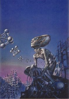Creative Illustration, Space, Bruce, Pennington, and Time image ideas & inspiration on Designspiration Arte Sci Fi, Bilal, 70s Sci Fi Art, Time Images, Classic Sci Fi, Illustration, Retro Futuristic, Science Fiction Art, Sci Fi Fantasy
