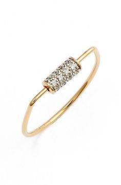 ginette ny 'Mini Straw' Diamond Ring available at #Nordstrom