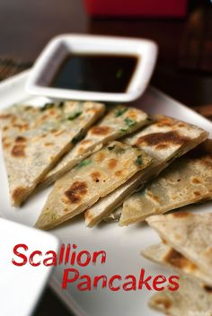 One of my favorite dishes when I lived in China.  Scallion pancakes to celebrate the Chinese New Year