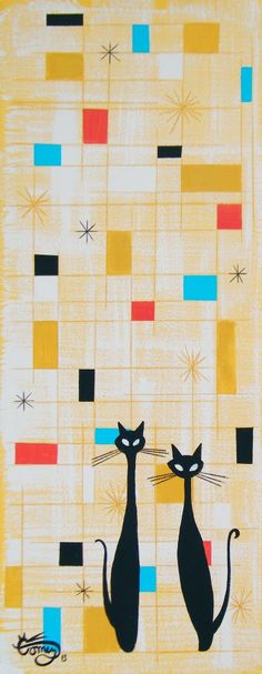 The Art Of El Gato Gomez & Atomic Starburst 50s Style Wall Decals Sheet Medium | Pinterest ...