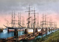 hamburg 1900 | Hamburger Hafen um 1900