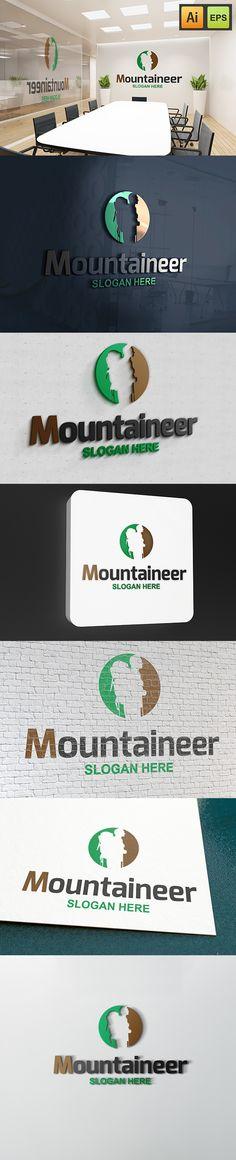 """@Behance projeme göz atın: """"Mountaineer Logo""""…"""