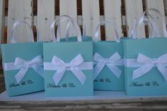 Tiffany blue party favor bags for your wedding event by steppnout, $2.00
