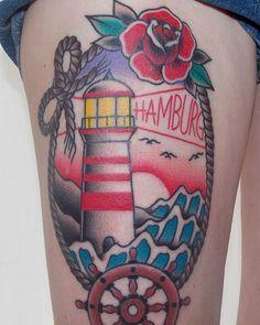 Hamburg verewigen ist immer ne gute Idee  #tattoo #tattoohamburg #germantattooer…