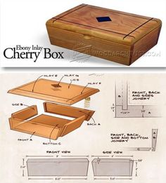 Inlay box plans woodworking plans and projects woodarchivist Small Woodworking Projects, Woodworking Box, Woodworking Patterns, Wood Projects, Wooden Box Plans, Wood Plans, Small Wooden Crates, Patterned Furniture, Ideas Hogar