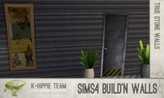 Mod The Sims - 7 Black Walls - true seamless - volume2
