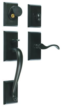 Rockwell Premium Savoy Solid Brass Entry Door Handleset in Oil  sc 1 st  Pinterest & Rockwell Premium Savoy Solid Brass Entry Door Handle | Nickel ... pezcame.com