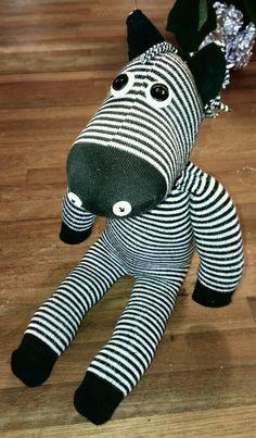 Sock zebra - her name is stripe.