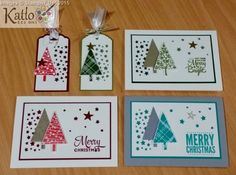 Festival of Trees - Confetti Stars Border Punch cards