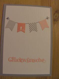 Mirjams- Stempelecke, Sale a bration 2014, Glückwunschkarte, Fähnchen, Stampin Up