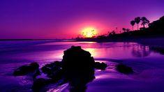 Purple sunset on a tropical beach. Sunset Beach, Beach Sunset Wallpaper, Beautiful Beach Sunset, Beautiful Beaches, Beach Sunsets, Hawaiian Sunset, Romantic Beach, Summer Sunset, Sunset Sky