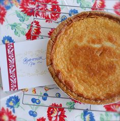 """This is considered an old Southern """"hard times"""" pie. It's made with simple ingredients and it's pure heaven. It's fantastic served at room temperature or chilled."""