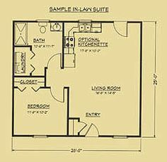 Image result for mother in law suite garage floor plan  ~ Great pin! For Oahu architectural design visit http://ownerbuiltdesign.com