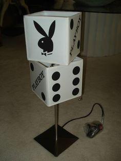 Unusual Playboy Bunny Dice Table Lamp Stainless Steel Base | eBay