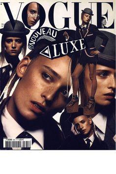 Vogue Paris octobre 2002: http://www.vogue.fr/photo/les-couvertures-de/diaporama/inez-vinoodh-en-26-couvertures/5575/image/462023#vogue-paris-octobre-2002