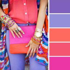 Стало модным сочетать три и более цветов в комлекте одежды. Но как это сделать правильно знает далеко не каждый. Сочетание цветов в одежде — одно из самых главных правил, которого следует придерживаться при создании своего имиджа. Весеннее настроение требует красок! Представляю вашему вниманию шпаргалки по цветовым сочетаниям гардероба.n oo