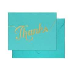 Blue Thanks Notecard set from The TomKat Studio Party Shop