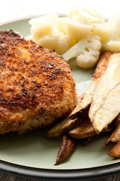 Oven-Fried Pork Chops – Weight Watchers (3 Points)