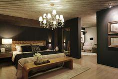 Variedade de texturas em paredes e tetos cria espaços nada óbvios na Casa Cor MS