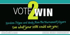 "http://gloconj.com/tournament-contestants/  VOTE TO WIN random prizes. We will not announce who is offering prizes & deals or what they are. But, you can go search them out on their Facebook and Twitter pages!  Not all businesses may announce their prize right away or at all. HOW TO VOTE  Click the image of the business you like, then look at the bottom of the page for ""Submit Choice"". *DON'T FORGET TO PROVIDE YOUR EMAIL ON THE VOTE PAGE TO BE ENTERED FOR PRIZES"
