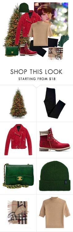 """""""Christmas tree shopping with jungkook"""" by yolo-12 ❤ liked on Polyvore featuring J Brand, Andrew Marc, Timberland, Chanel, Brixton, Burberry, Theory and Mark & Graham"""