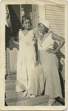 1930s beach pajamas...found photo print wide leg pant jumpsuit nautical vintage fashion style women
