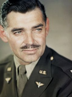 Clark Gable photographed in England, c. 1943.