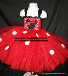 Minnie Mouse Inspired Tutu Dress Minnie by LittleMissTrendyTutu